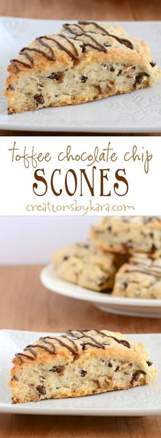 Toffee Chocolate Chip Scones