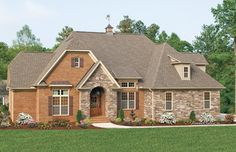 The Runnymeade - Plan #1164 - Traditional - Exterior - charlotte - by Donald A. Gardner Architects