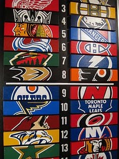 This would be cool for a boys room hockey standings