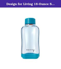 Design for Living 16-Ounce Stackable Water Bottle (Morning Blue). Stay hydrated throughout the day with this 16-ounce Staxx Tritan Water Bottle. Easy twist-on, twist-off cap with no exposed threads makes it comfortable to drink from. Bottles stack neatly in fridge or cabinet and won't roll around, and are top-rack dishwasher safe. Made from durable, commercial quality, food safe Tritan plastic that's odor and stain resistant. Ideal for everyday use with water or iced beverages in the…