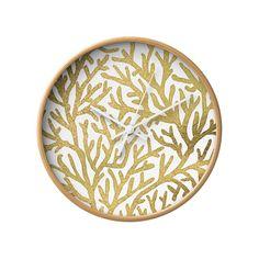 From deep under the sea comes the fabulously gold coral pattern of this wall clock. With a textural background and sleek styling, it's a striking modern accent on the wall.  Find the Ocean Gold Wall Clock, as seen in the Valentine's Day Gifts for Her Collection at http://dotandbo.com/collections/valentines-day-gifts-for-her-2016?utm_source=pinterest&utm_medium=organic&db_sku=102487