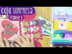 REGALA UNA CAJA SORPRESA - Tutorial Parte 1 (Exploding Box) ✎ Craftingeek - YouTube