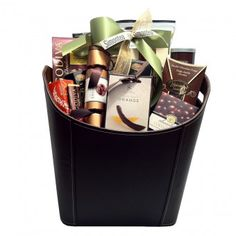 Corporate gifts are popular during holiday christmas season. This magazine holder is beautiful, and chocolate and goodies inside is amazing.  www.simontea.com  $189  @GiftBasketsGta