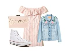 Outfit: Šaty - Hollister, Topánky - Converse, Bunda - H&M, Kabelka - BCBGMAXAZRIA