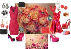 """floral night out"" by samantha-edlin on Polyvore"