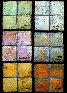 cc30-35 Patina Stone colors handmade floor or wall pavers   Now I would love to have this on my walls !!!
