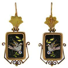 Micromosaic earrings ca. 1860
