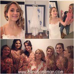 Happy #wedding day to Eleni! We had so much fun, and I love this look Eleni chose - #hollywoodGlamour with #smokeyEye and #lashes - #bridal #hairDown #MakeupAndHairByAlinaKaraman #kimptonHotels #PalomarHotel #DCWeddings