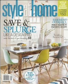 Style At Home Magazine Design Decor Tips Basement Makeover Budget Decorating