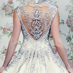 Couture vintage gown with incredible detail