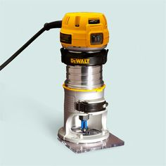 Dewalt DWP611  The tool is also available in a $250 kit with a plunge base, which lets you start and stop routs anywhere on a workpiece
