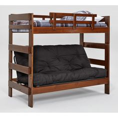 ideal for any childu0027s bedroom this woodcrest heartland chocolate futon bunk bed includes a twin