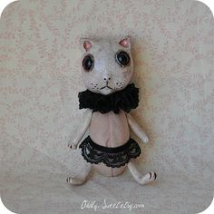 Art Doll GINGER  Medium Animal Kitty Cat Primitive by OddlySweet