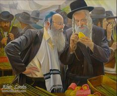 The day before the Sukkoth, painting by Alex Levin