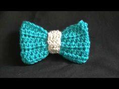Noeud papillon au crochet - tutoriel vidéo YouTube