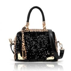 @Sammydress $12.61 Stylish Women's Handbag With Color Matching Leopard Patterns Sequins Design    Love this! So, so cute. :)    http://www.sammydress.com/product268936.html