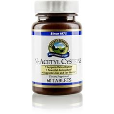 N-Acetyl Cysteine (300 mg) (60 tabs)  is a powerful #antioxidant & #immune stimulant, helping with cellular detoxification & repair.  http://www.harmony4health.com    http://www.naturessunshine.com/us/product/n-acetyl-cysteine-300-mg-60-tabs/509/