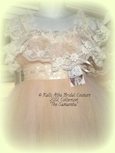 Custom Made Samantha gown with Vintage Lace and by KalliAlbaBridal, $240.00