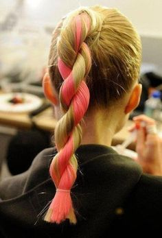 15 Hair Ideas You Need to Try This Summer - If you're tired of the original braid, try a rope braid for something different, and add some hair chalk for extra flare.