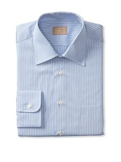 Gitman Gold Men's Stripe Spread Collar French Front Dress Shirt
