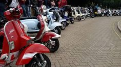 54 gorgeous scooters outside Colchester Castle