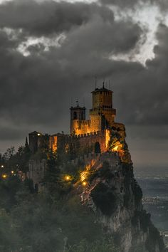 San Marino, inside of , but not part of Italy . Between Marche and Emilia Romagna
