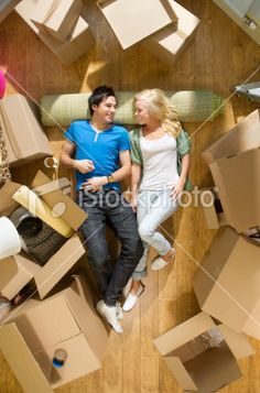 Young Couple Moving into a New Home Royalty Free Stock Photo