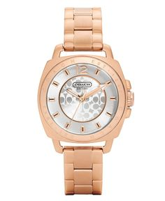 COACH BOYFRIEND MINI BRACELET WATCH - Women's Watches - Jewelry & Watches - Macy's