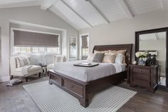 Roomy retreats require a commanding centerpiece, and with its formidable frame, our Loxton storage bed is up to the challenge. Shop other inspiring bedrooms. Master Bedroom Bathroom, Dream Bedroom, Home Bedroom, Bedroom Decor, Bedrooms, Bedroom Ideas, Budget Bedroom, Bedroom Furniture Inspiration, Traditional Bedroom