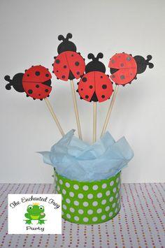 4 Piece Ladybug Party Centerpiece Embellishment Ladybug Baby Shower Ladybug Birthday Birthday. $9.00, via Etsy.