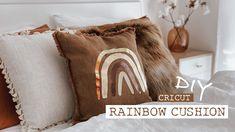 Cricut Maker   Rainbow Cushion DIY Iron-on Vinyl