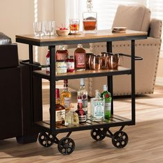 Diy Apartment Bar Cart Decor Diy Bar Cart Ikea Bar