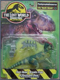 "Kenner Jurassic Park: The Lost World Pachycephalosaurus ""Ram Head"" 1996"