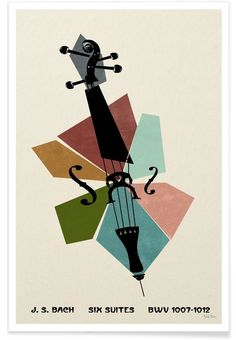 Bach - Cello Suites as Premium Poster by Prelude Posters   JUNIQE