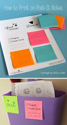 This post explains how to print on post-it notes! How cool is that?!