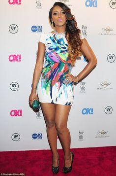 Single again: Porsha Stewart (pictured here in New York in September)