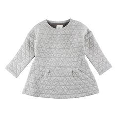83728f0b4708 Skøn quiltet kjole fra En Fant i grå melange Lille