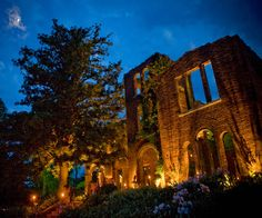Ruins at Twilight- Love Barnesly Gardens!