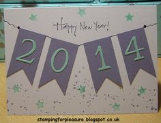 Stamping For Pleasure: Happy New Year! Grandma Cards, Happy New Year, Tatting, Stamp, Bobbin Lace, Stamps, Needle Tatting, Happy New Year Wishes