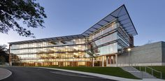 Built by Kallmann McKinnell & Wood Architects in Waltham, United States with date 2010. Images by Anton Grassl of Esto Photographics. There are three primary purposes for creating the Mandel Humanities Center (MHC):    • provide a place which brings p...
