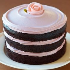 Miette tomboy cake (chocolate with raspberry frosting)