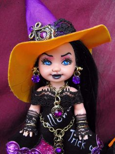 OOAK Halloween Goth Kelly Witch with Cauldron ~ **QUINN** ~ by *JerZy*