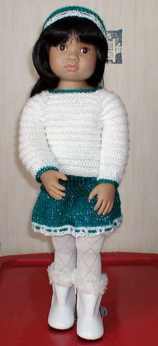 Top Down Cardigan Set for Kidz n Cats Slim Bodied 18 inch dolls.