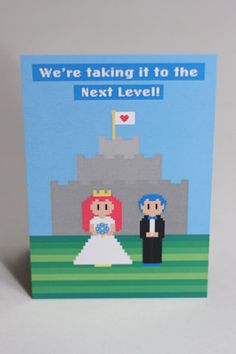 Game-themed wedding invitations  These are cute!