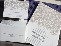 Isabelle And Gabriel: Champagne Bubble Inspired, Gold Foil And Navy  Letterpress With Red Edging · Wedding StationaryWedding  InvitationsInvitation ...