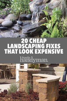 There are lots of affordable backyard landscaping ideas you can look into. For a backyard landscape upgrade, you don't need to spend so much cash to get an outdoor look that is easy and affordable. Outdoor Landscaping, Front Yard Landscaping, Outdoor Gardens, Hillside Landscaping, Natural Landscaping, Country Landscaping, Diy Landscaping Ideas, Indoor Outdoor, Outdoor Projects