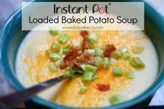 Check out this delicious and EASY recipe for Instant Pot Loaded Baked Potato Soup!! I had all the ingredients on hand and it came together so FAST!