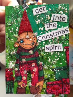 """""""Christmas 2014"""" atc created by Lesley Macgillivray"""