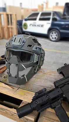 Airsoft concept helmet and fast mask by JAY DESIGN