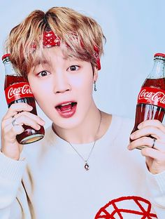 Jimin with coke Busan, Bts Jimin, Bts Bangtan Boy, Taehyung, Yoonmin, Kpop, Bts Photo, Bts Pictures, Bts Members
